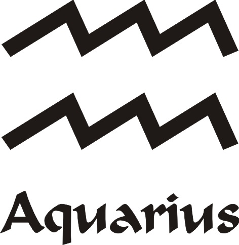 Aquarius Star Sign Vinyl Sticker