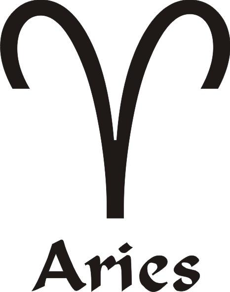 Aries Star Sign Vinyl Sticker 163 1 92 Vinyl Stickers Direct