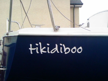 Pair of Vinyl Boat Names up to 1000mm x 180mm