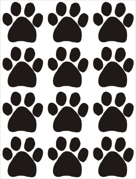 Dogs Paws Vinyl Stickers