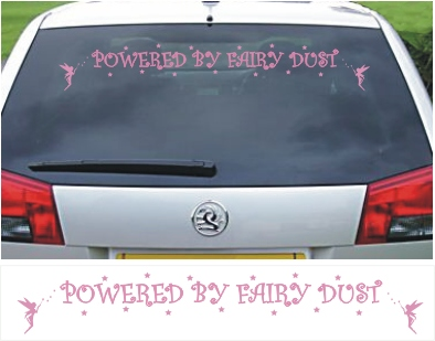 Powered by Fairy Dust Vinyl Sticker