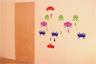 Space Invaders Vinyl Stickers