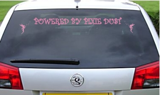 Powered by Pixie Dust Vinyl Sticker