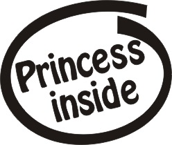 Princess Inside Vinyl Sticker
