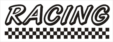 Racing Vinyl Sticker