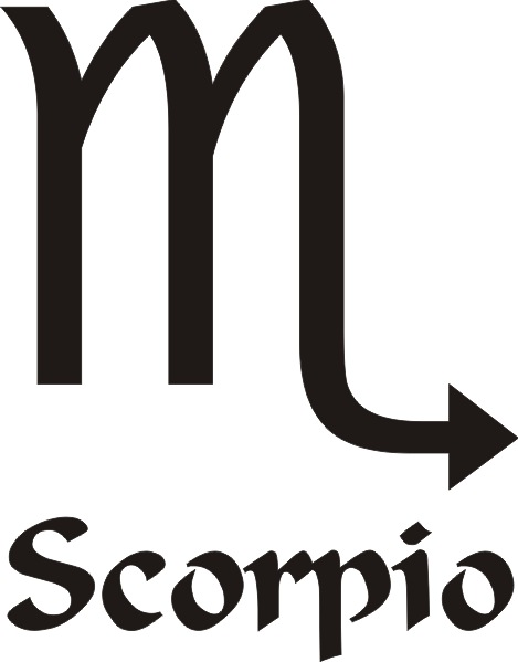 Scorpio Star Sign Vinyl Sticker
