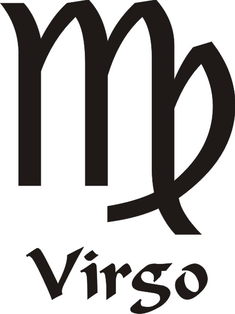 Virgo Star Sign Vinyl Sticker