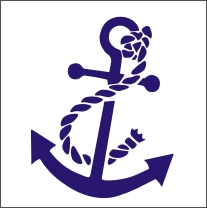Boat Anchor Vinyl Sticker