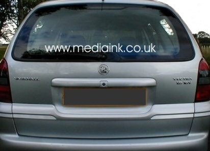 Car or Van Domain Name Sticker