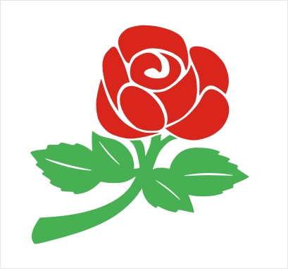 Two Colour English Rose Vinyl Sticker