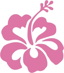 Vinyl Hibiscus Flower Stickers