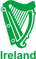 Irish Harp Vinyl Sticker