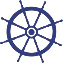 Ships Wheel Vinyl Sticker