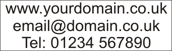 Web Domain Name, email, and Telephone Number Vinyl Sticker